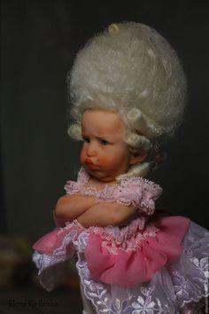 "Коллекционные куклы ручной работы. Заказать ""Розовый фламинго"". Елена Кириленко. Ярмарка Мастеров. Парик Cute Baby Dolls, Cute Babies, Doll Face Paint, Big Eyes Artist, Baby Fairy, Clay Baby, Tiny Dolls, Monster High Dolls, Ball Jointed Dolls"