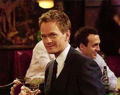New party member! Tags: pizza himym flirting barney stinson pub