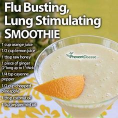 World View Nutrition Flu Busting, Lung Stimulating Smoothie – Healthy Holistic LivingHealthy Holistic Living Healthy Juice Recipes, Healthy Juices, Healthy Smoothies, Healthy Drinks, Smoothie Recipes, Detox Drinks, Detox Juices, Cleanse Recipes, Smoothie Diet