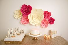 Large Medium Small Paper Flower Large Paper Flower Fully