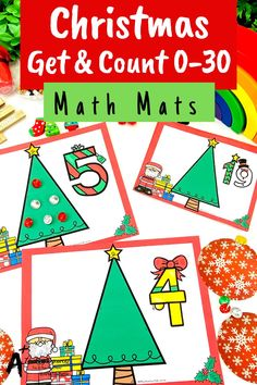 Looking for Christmas math printables for kids? then check these gorgeous math centers for learning to identify numbers and count 0-30. There's so many variations including with and without ten frames, digits and numbers as words. Your kids will love them this holiday season! Teaching Numbers, Teaching Plan, Teaching Resources, Christmas Math, Christmas Activities, Classroom Activities, Kindergarten Age, Numbers Kindergarten, Number Recognition Activities