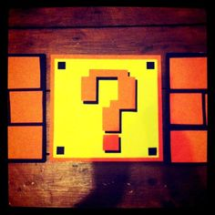 Cardboard Mario bricks and question marks - made today! #nintendo #supermario #retrogames