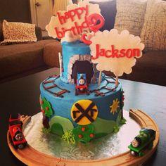 Thomas the Train themed Happy Birthday Cake