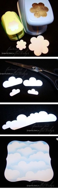 By Paula Lee. Make a cloud mask for sponging clouds.