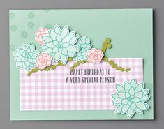 Kathryn's Stampin' World: Retired Products - Oh So Succulent & Succulent Framelits Dies