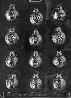 assorted ornaments christmas chocolate candy mold - Christmas Candy Molds