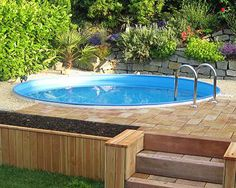 Intex frame pool in erde einlassen ideas for the house pinterest pools and frames - Stahlwandpool in erde einlassen ...