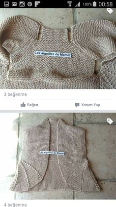 Giubbotto In Attesa - Diy Crafts - Potitoo - Diy Crafts - potitoo Crochet Stitches Patterns, Knitting Patterns, Crochet Cardigan, Knit Crochet, Diy Crafts Crochet, Knitting Designs, Crochet Clothes, Baby Knitting, Creations