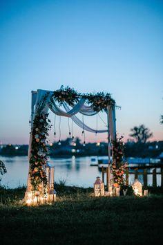 Boho Wedding Decorations Blue 28 Ideas For 2020 Rustic Wedding Backdrops, Wedding Reception Backdrop, Wedding Altars, Diy Wedding Flower Centerpieces, Simple Wedding Decorations, Luau, Neutral Wedding Colors, Fabric Backdrop, Wedding Poses