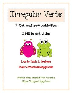 Irregular Verb Activities Freebie
