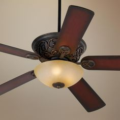 Casa Contessa Bronze and Scavo Glass Ceiling Fan - Goes Good With The Cherry Wood Furniture. With A Dimmer Of Course! Cherry Wood Furniture, Traditional Ceiling Fans, Classic Ceiling, Bronze Ceiling Fan, Fan Lamp, Room Lamp, Candelabra Bulbs, Ceiling Tiles, Lights