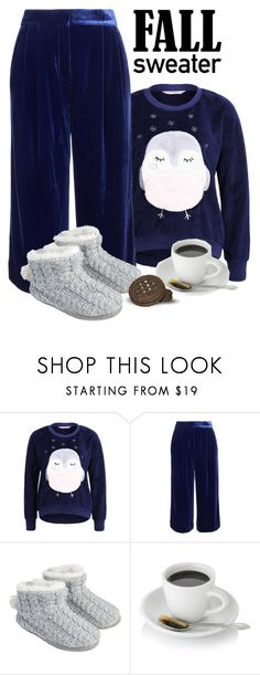 """""""Cozy fall sweater 🦉"""" by onelittleme ❤ liked on Polyvore featuring TIBI, Accessorize, Fall, Blue, Sweater and velvet"""