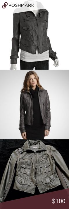 Kenneth Cole Reaction Faux Leather Moto jacket Kenneth Cole Reaction Faux Leather Motorcycle Jacket with front flap pockets. Buckle detail at cuffs and collar. Worn a few times, in great condition!! Kenneth Cole Reaction Jackets & Coats