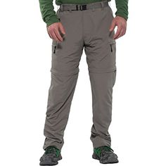 Mens Nylon Moisture Wicking Activewear Breathable Lightweight Zipoff Pants 34 x 32 >>> You can find out more details at the link of the image.