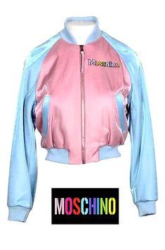 Trendy unicorn on the back jacket Moschino, Jackets For Women, Clothes For Women, Couture, Boat Neck, Adidas Jacket, Unicorn, Clothing, Sleeves