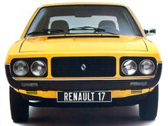 Renault 17 - yellow car French Classic, Classic Cars, Nissan, Volkswagen, Yellow Car, Old School Cars, Car Advertising, Car Images, Top Cars