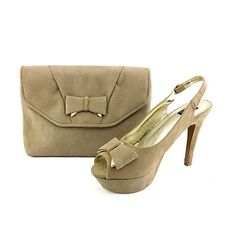 Slingback Stiletto Heel Flocking Sandals Women's Shoes Matching Flocking Clutches Bag(More Colors) – USD $ 59.99