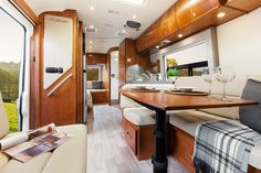Leisure Travel Vans - Serenity View from front to back w/ dining table
