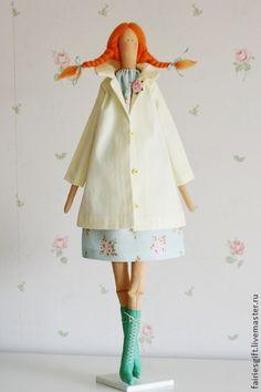 """""""Весна идет!"""". Handmade. Салатовый, текстильная кукла"""