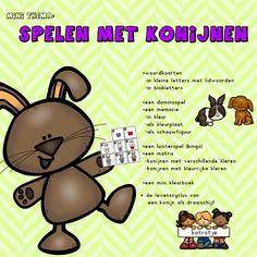 mini thema spelen met konijnen van katrotje  leuk voor in de kleuterklas of thuis