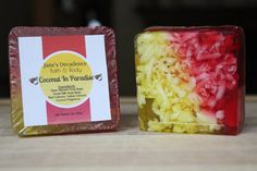 Check out this item in my Etsy shop https://www.etsy.com/listing/492250347/coconut-in-paradise-soap-janes-decadence