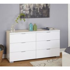 Shop for Simple Living High Gloss Zuri 6-drawer Chest. Get free shipping at Overstock.com - Your Online Furniture Outlet Store! Get 5% in rewards with Club O! - 18402008