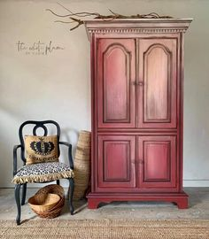 Red Door, Furniture, Home, Paint Furniture, Chalk Paint Furniture, Wise Owl Paint, White Plum, Armoire, Home Decor