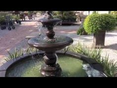 Garden Fountain Sounds - Wall Fountains, Large Fountains & More at TheGa. Wall Fountains, Garden Fountains, Sound Wall, Water, Outdoor Decor, Gripe Water, Diy Garden Fountains, Garden Water Fountains, Aqua