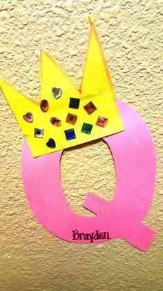 dazzling dollar tree finds for teachers - Convenile Q Crafts For Preschool, Abc Crafts, Preschool Letters, Daycare Crafts, Preschool Lessons, Alphabet Activities, Toddler Crafts, Preschool Activities, Preschool Phonics