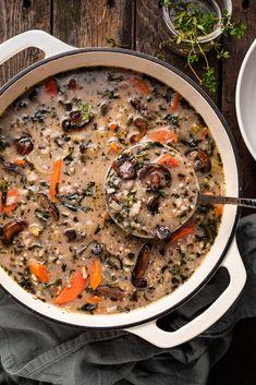 Vegan Recipes Videos, Delicious Vegan Recipes, Vegetarian Recipes, Healthy Recipes, Fast Recipes, Healthy Options, Healthy Food, Healthy Eating, Wild Rice Soup