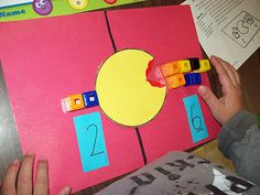"""Math Centres - greater vs smaller """"Number Muncher"""" Awesome idea!"""