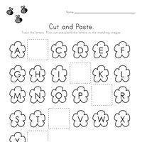 Printable Activities For Kids, Worksheets For Kids, Educational Activities, Missing Letter Worksheets, Alphabet Worksheets, Small English Story, Cut And Paste Worksheets, Letters For Kids, Holiday Crafts