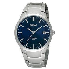 Pulsar titanium horloge PS9011X1 voor heren - gratis verzending!
