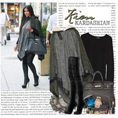 """1156. Celeb Style : Kim Kardashian (12.10.2010)"" by munarina on Polyvore"