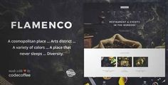 Download and review of Flamenco - A Magnificent Restaurant and Bar WordPress Theme, one of the best Themeforest Entertainment themes