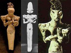 Estatuilla sumeria que representa a la diosa sumeria Nammu, madre de Enki...extraña apariencia