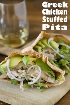 Greek Chicken Stuffed Pitas from www.whatsgabycooking.com