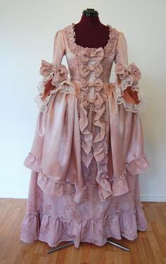 Pink Marie Antoinette rococo Victorian inspired costume dress