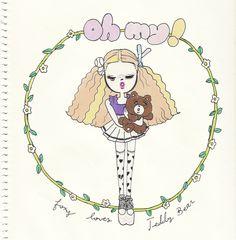oh-my-foxy-loves-teddybear