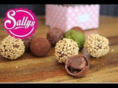 Pralinen selbst gemacht: Vollmilchschokoladenpralinen mit Nougat / DIY Geschenkidee - YouTube