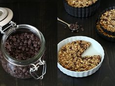 Chocolate oatmeal tartlets by OhLadyCakes http://www.ohladycakes.com/2012/03/chocolate-oatmeal-tartlets.html