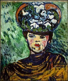 Maurice de Vlaminck ~ Woman with a Hat, 1905