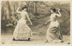 Ego is a rat on sinking ship of being.: The famous Topless Female Duel in 1892 The most...