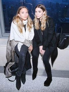 Star Tracks: Tuesday, March 17, 2015 | SISTER, SISTER | Mary-Kate and Ashley Olsen take a seat at Monday's 2015 CFDA Fashion Awards announcement party at Top of the Rock in N.Y.C.
