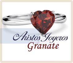 La piedra hermosa de enero ... Granate www.aristos-joyeros.com