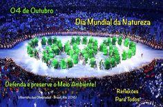 """Acesse: """"04 de Outubro - Dia Mundial da Natureza"""" (com mensagens) Nesse dia comemora-se também o Dia Mundial dos Animais e o Dia de São Francisco de Assis."""