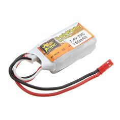 New Arrival ZOP Power JST Plug 7.4V 750mAh 2S 70C Rechargeable Li-po Battery For RC Model Toys Spare Part