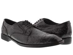 Men's dress shoes black genuine crocodile & ostrich skin oxfords loafers exotic