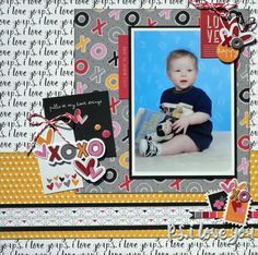He Pulls at My Heart Strings - Fancy Pants Designs - Sweet Nothings Collection