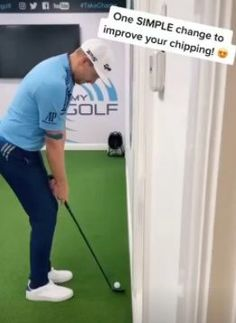 Hitting It Solid shares together with Me and My Golf how to improve your chipping with this simple move. Golf Wedges, Golf Chipping Tips, Golf Books, Golf Score, Best Golf Courses, Golf Instruction, Golf Putting, Golf Exercises, Golf Training
